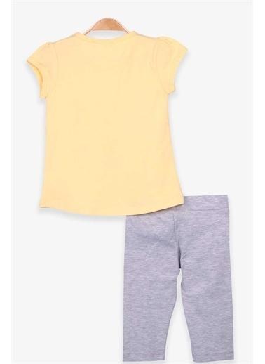 Breeze Kız Çocuk Kapri Taytlı Takım Deniz Kızı Baskılı Sarı  Sarı